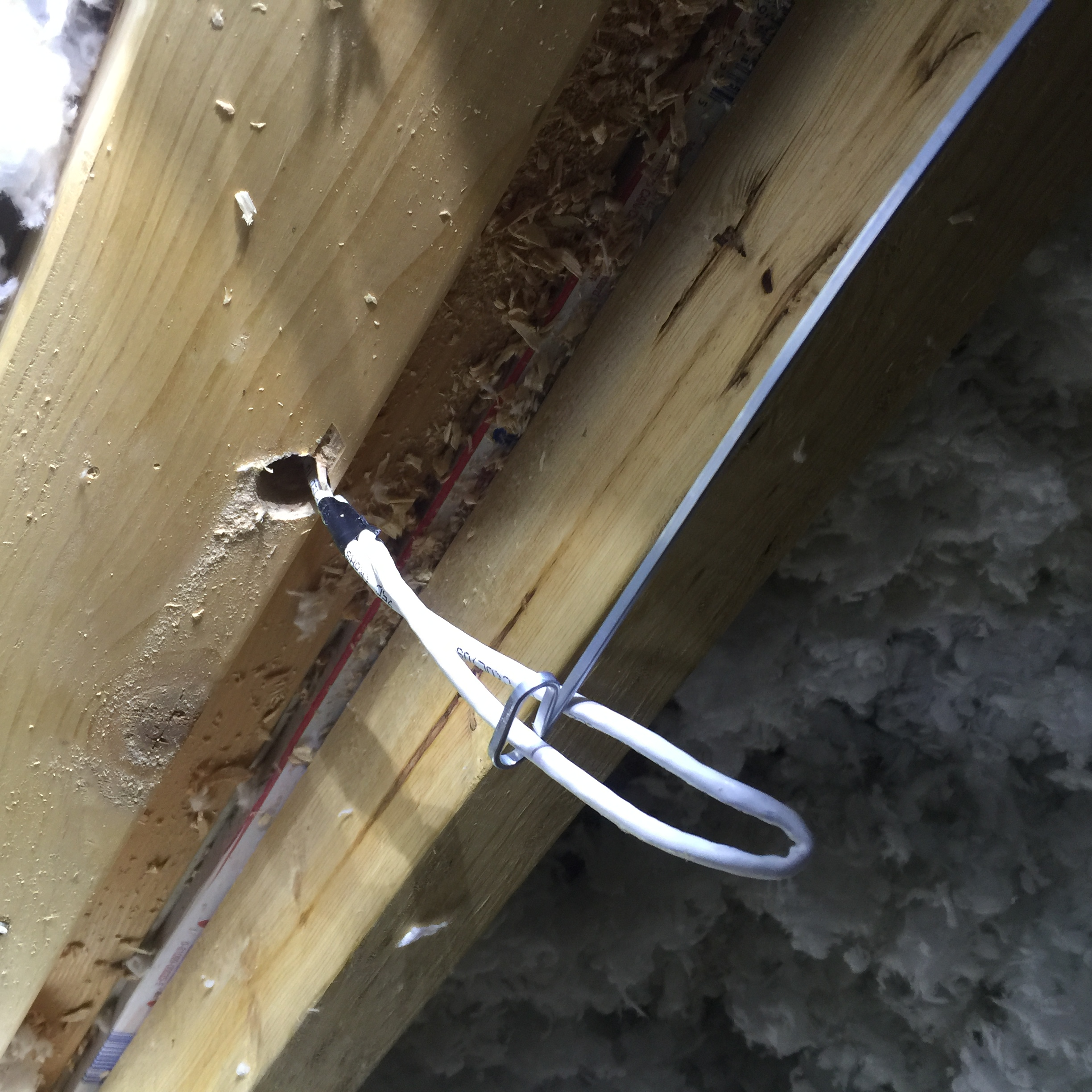 How To Install Your Own Home Ethernet On The Cheap 4d5a Security Wiring Two Story House Snaking